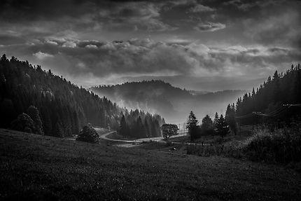 Réveil sur le Jura à Morteau