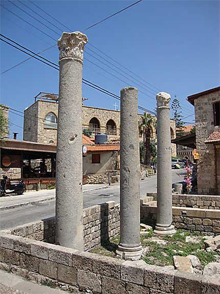 Colonnes romaines dans la vieille ville