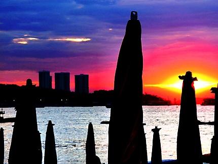 Soleil couchant à Pattaya