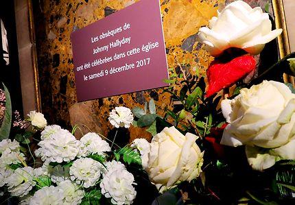 Souvenirs fleuris pour Johnny Hallyday