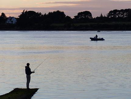Pêcheur en soirée, Morbihan