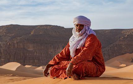 Portrait d'homme à Tadrart, Algérie