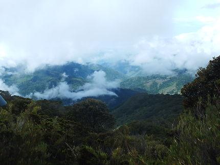 Vallée dans les nuages