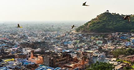 Vue sur la ville depuis le Garh Palace