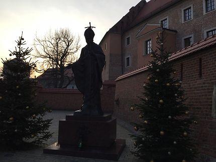 Statue Pape Jean-Paul II à Cracovie