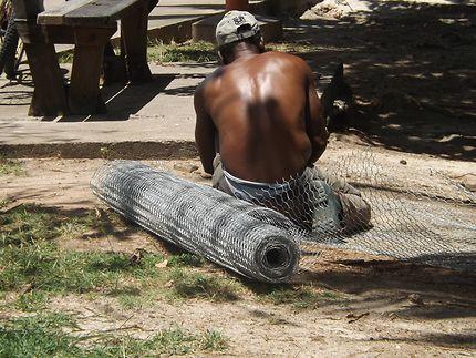 Pêcheur au Vauclin, Martinique