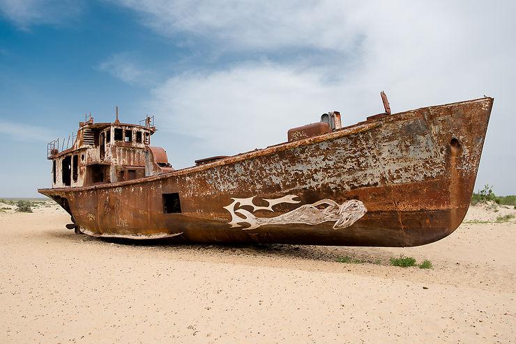 Ancien port de Muynaq, Ouzbékistan