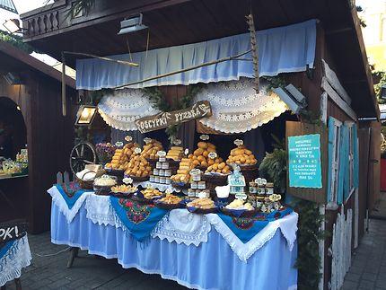 Marché de Noël à Cracovie, place du marché