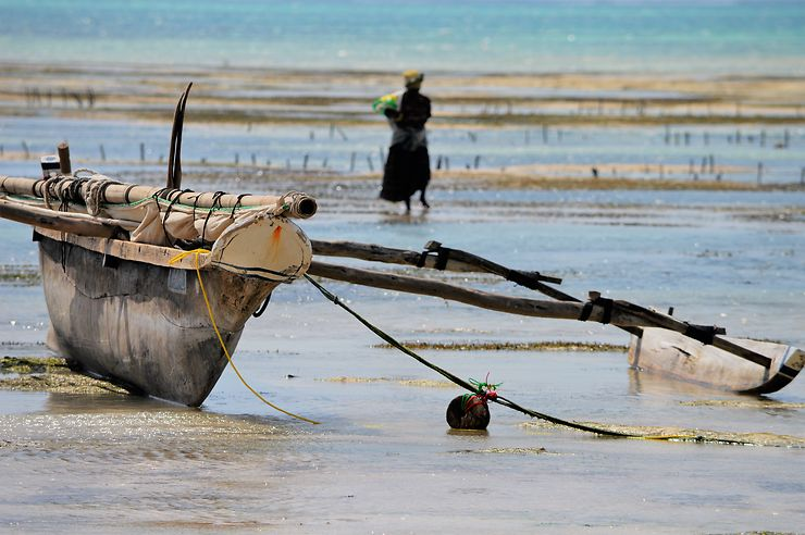 Un ngalawa à Jambiani, Zanzibar