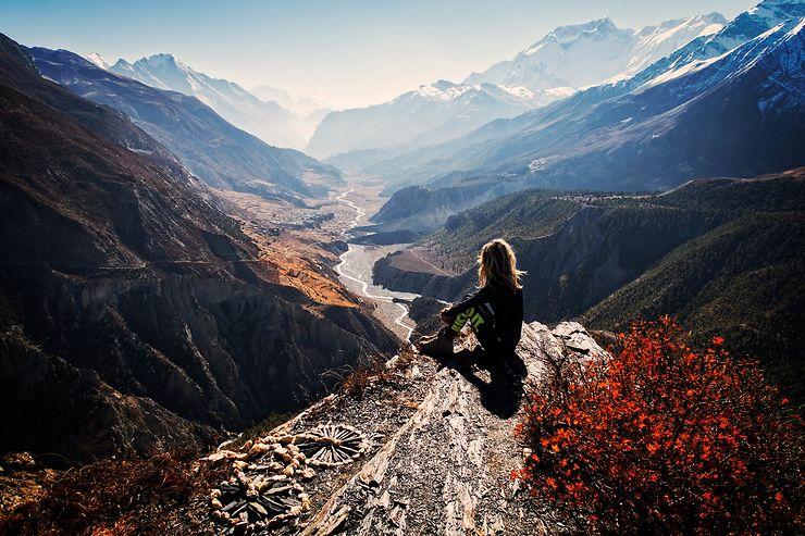 Belvédère sur la vallée de Manang, Népal, par Une Planète Bleue