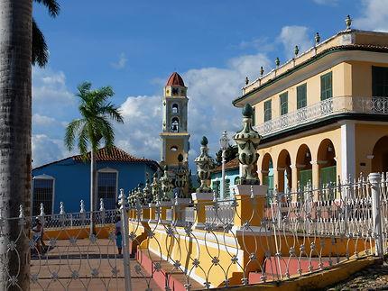 Vue sur la plaza Mayor de Trinidad, Cuba
