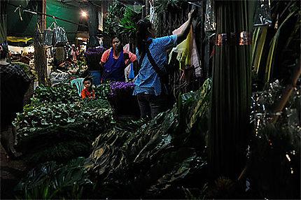 Bangkok marché de nuit aux fleurs