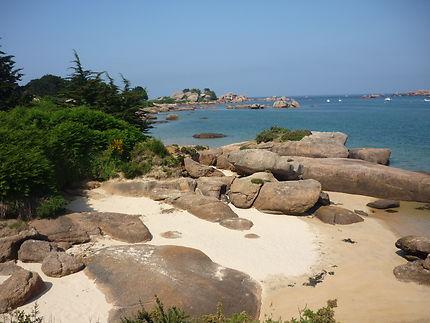 Crique de sable île Renote