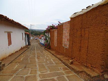 Les rues pavées de Barichara