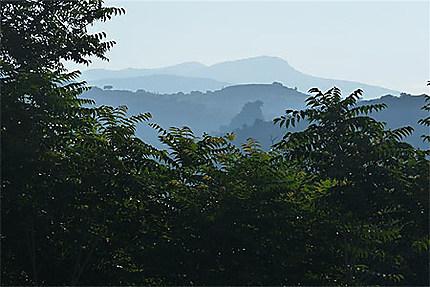 Le massif du Parnom depuis Sparte