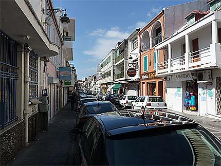 La rue commerçante de Basse-Terre