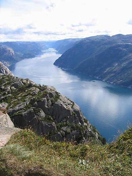 Vue en hauteur du Lysefjord