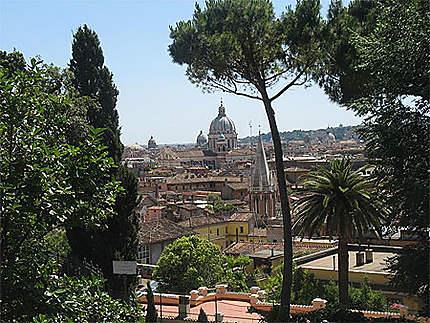 Vue depuis le parc de la Villa Borghese