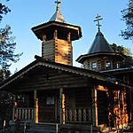 Eglise d'Ivalo au nord de la Finlande