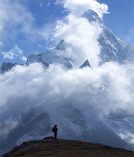Himalaya, Népal, Ama DaBlam, view from Chkung Ri