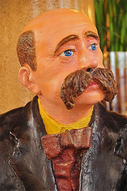 La statue du poète Peter Altenberg
