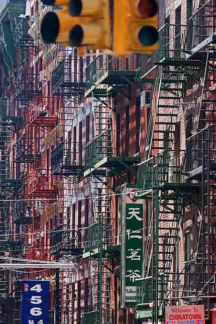 Escaliers à Chinatown