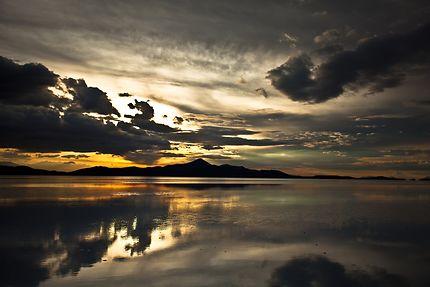 Coucher de soleil désert Uyuni