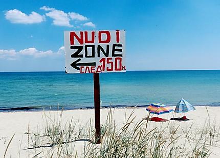 Plage de nudiste