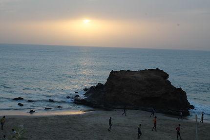 Coucher de soleil à Toubab Dialao, au Sénégal