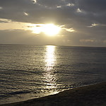 Coucher de soleil au Carbet