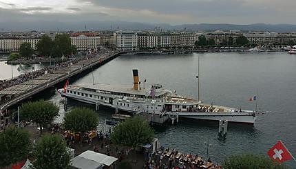 Genève, la rade, le lac