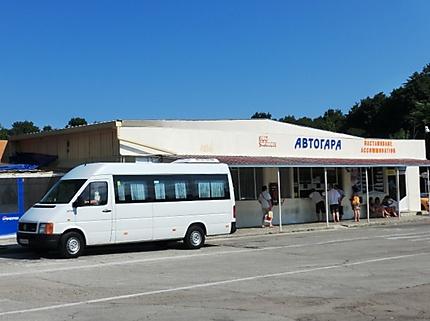 La station des bus (mini bus) pour Varna