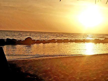 Coucher de soleil à La Somone, Sénégal