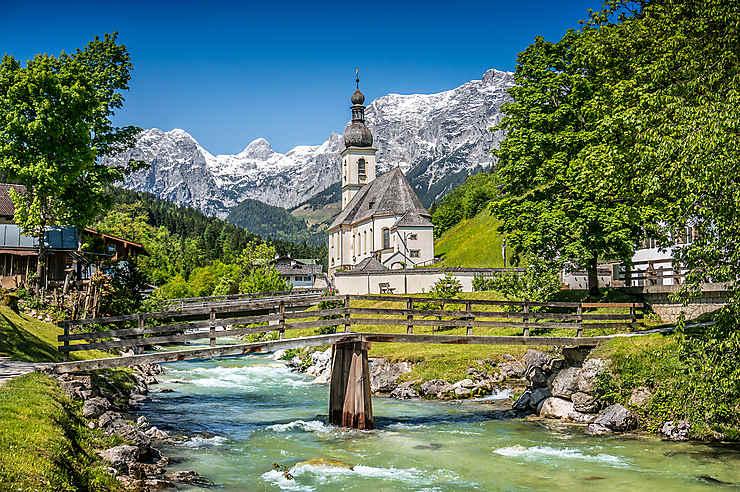 Les villages bavarois, de Berchtesgaden à Ramsau