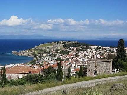 Vue de Mytilene et sa forteresse