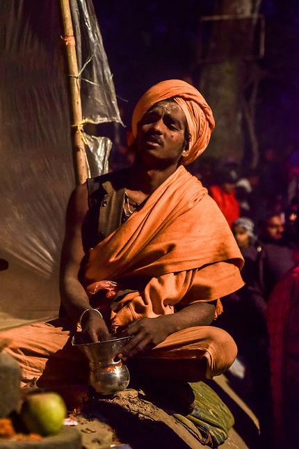 Sâdhu à Pashupatinath : célébration de ShivaRatri
