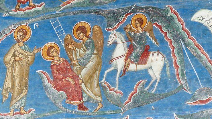 Peintures au Monastère de Voronet, Roumanie