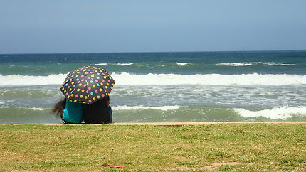 Face à l'océan indien au Sri Lanka