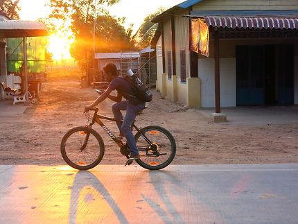 Le cycliste de Siem Reap