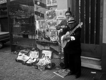 Concert de rue à Buenos Aires