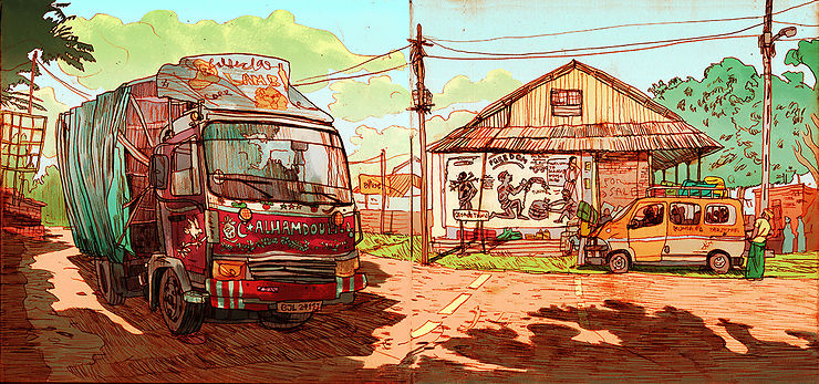 Sur les routes de Gambie