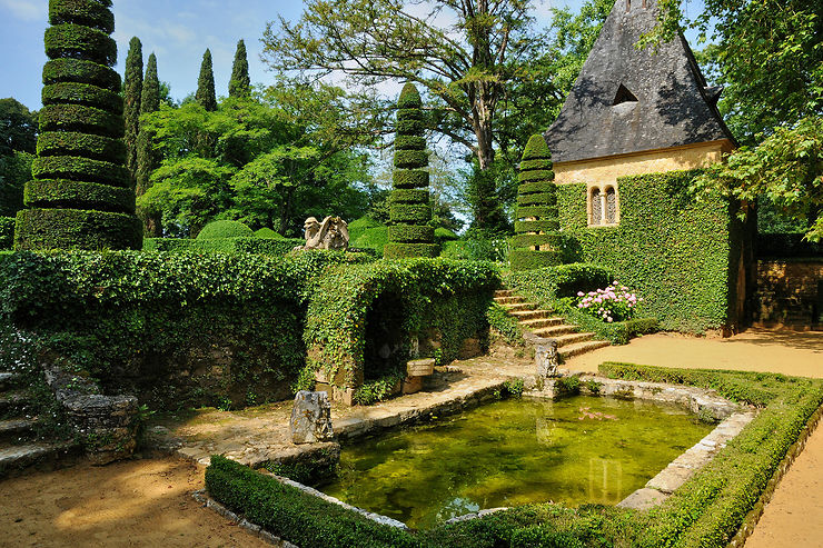 Les jardins du manoir d'Eyrignac, splendides !