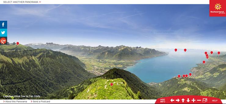 Voyage virtuel - Les plus beaux panoramas de Suisse chez vous