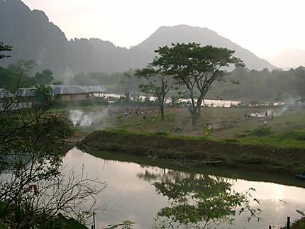 paysage laotien