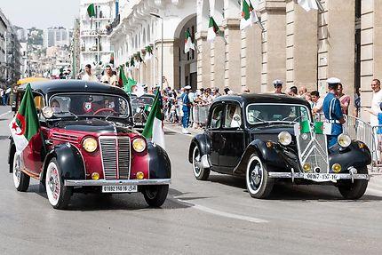 Alger, 05 juillet 2018 : voitures de collection