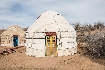 Ouzbékistan, dormir dans une yourte