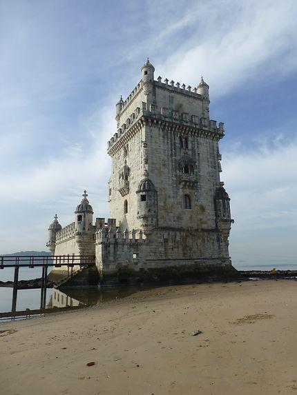 Sur le sable, Torre de Belém