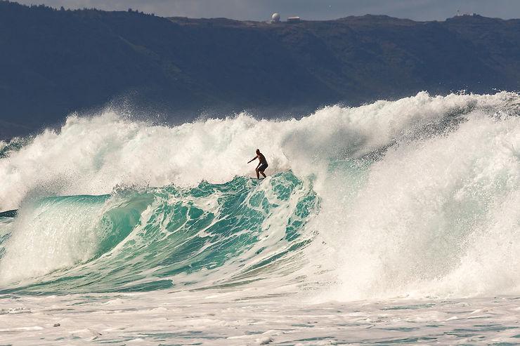 Au nord d'O'ahu : surf à Hawaii