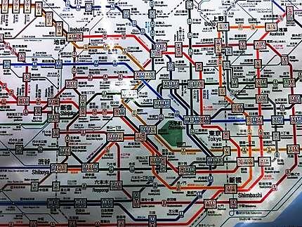 Plan (détail) de Tokyo