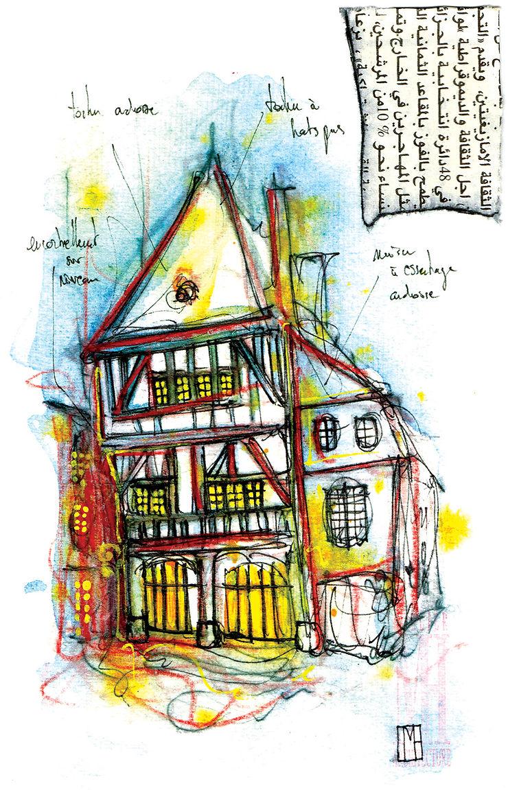 Maison à colombages en Bretagne